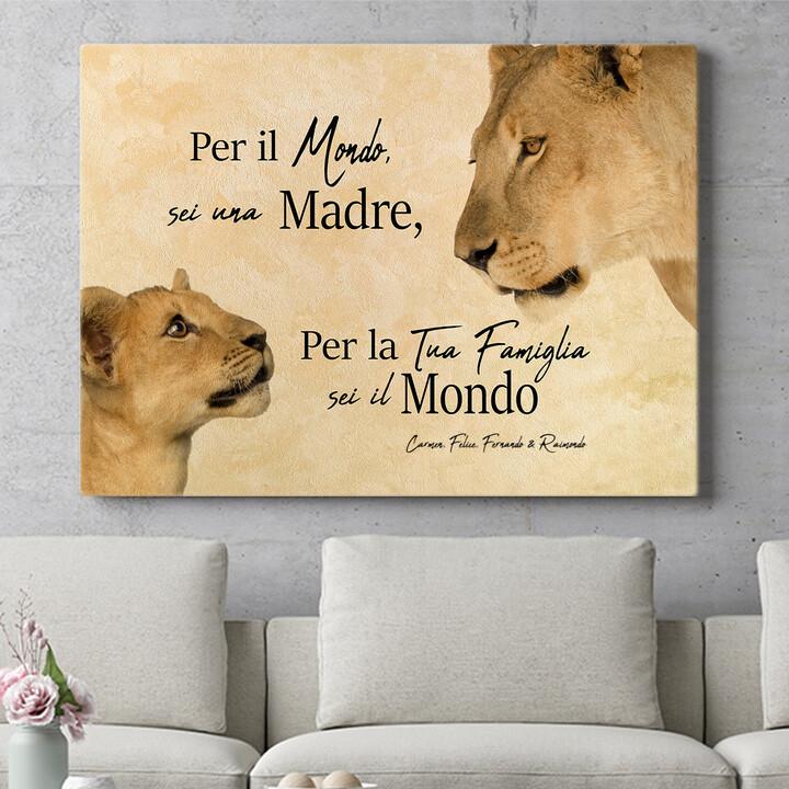 Regalo personalizzato Madre leonessa 2 (formato orizzontale)