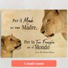Tele personalizzate Madre leonessa 2 (formato orizzontale)