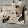Stampa personalizzata su tela Papà Panda