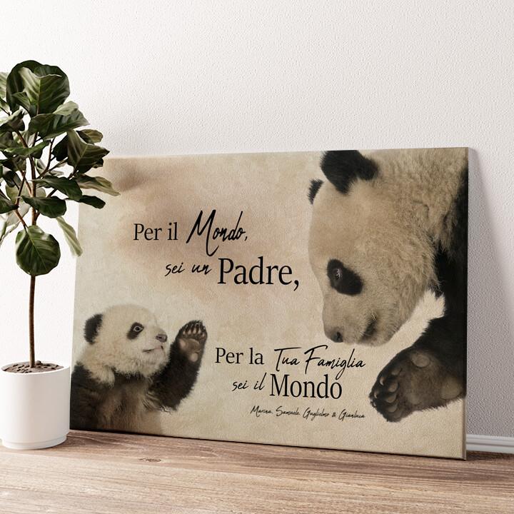 Papà Panda Tela personalizzata