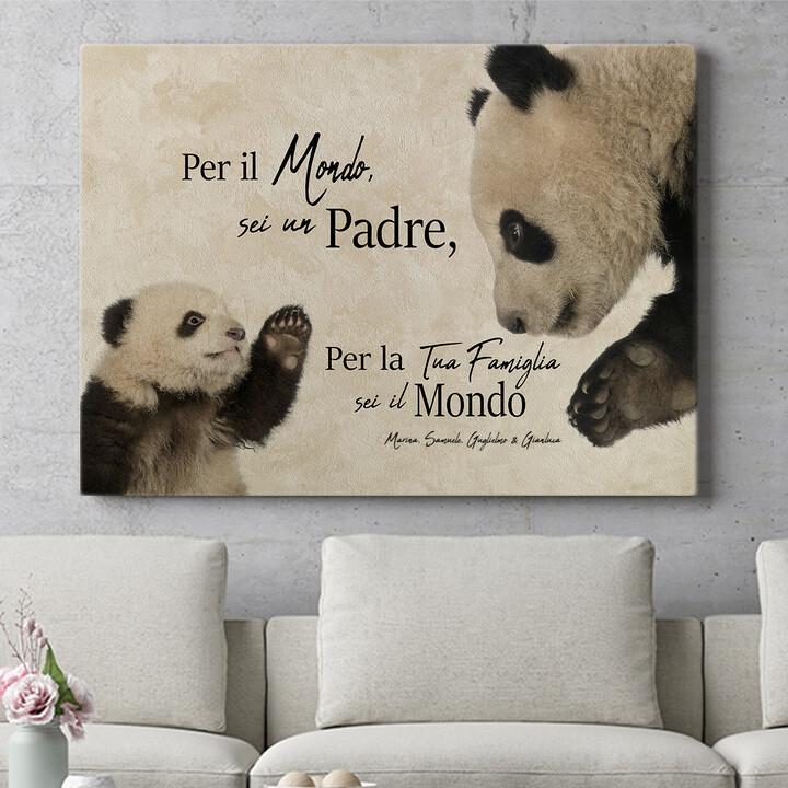 Regalo personalizzato Papà Panda