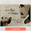 Tele personalizzate Papà Panda