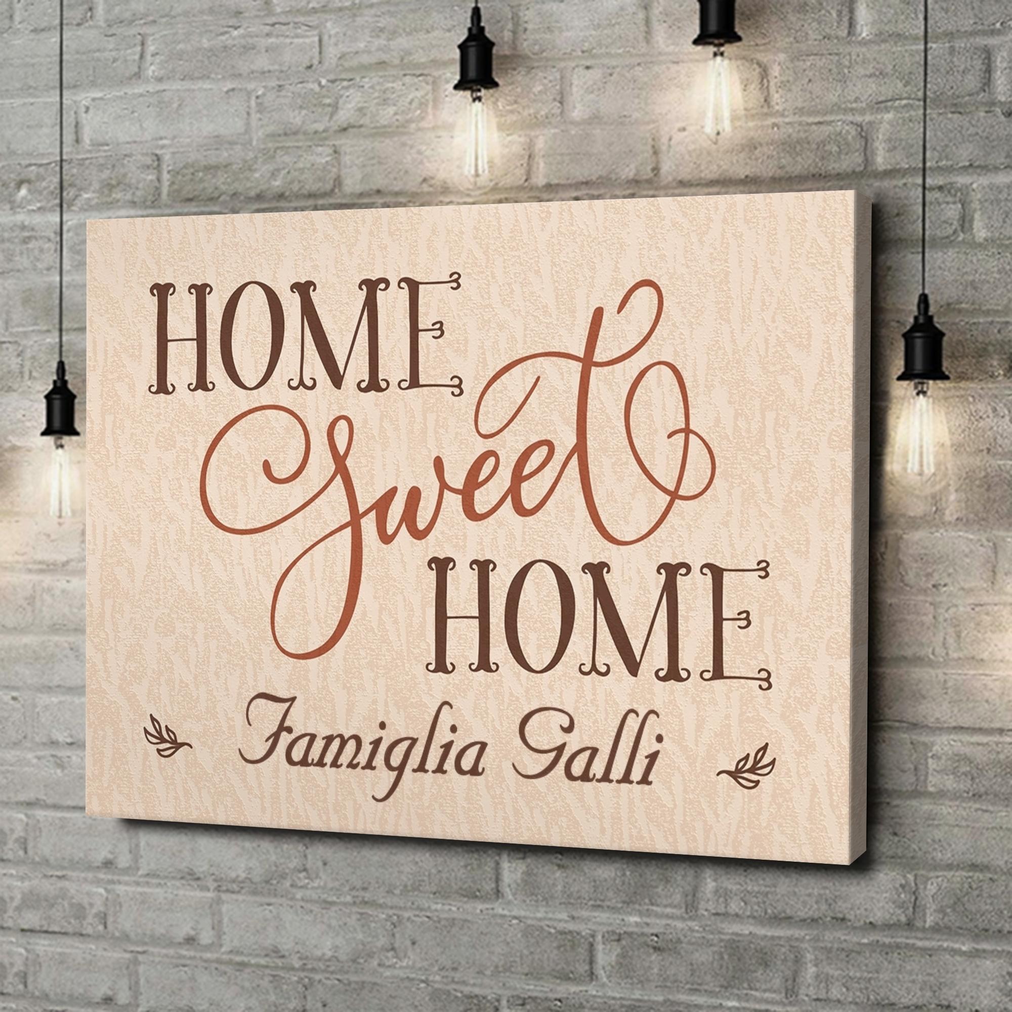 Stampa personalizzata su tela Casa dolce casa