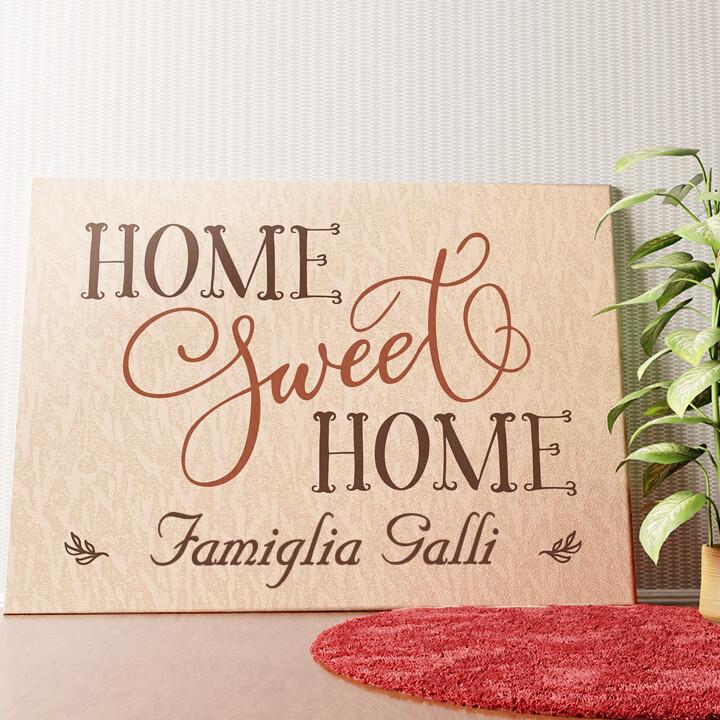 Tela personalizzata Casa dolce casa