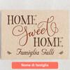 Tele personalizzate Casa dolce casa