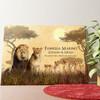 Tela personalizzata Famiglia di leoni