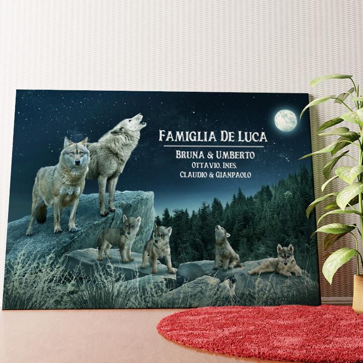 Tela personalizzata Branco di lupi