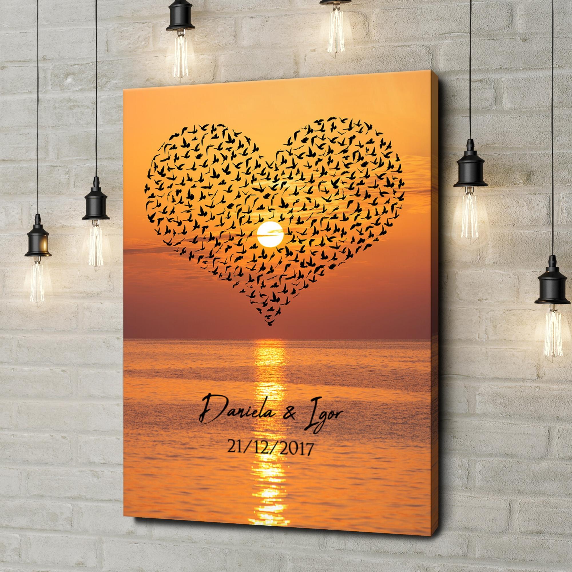 Stampa personalizzata su tela Uccelli d'Amore