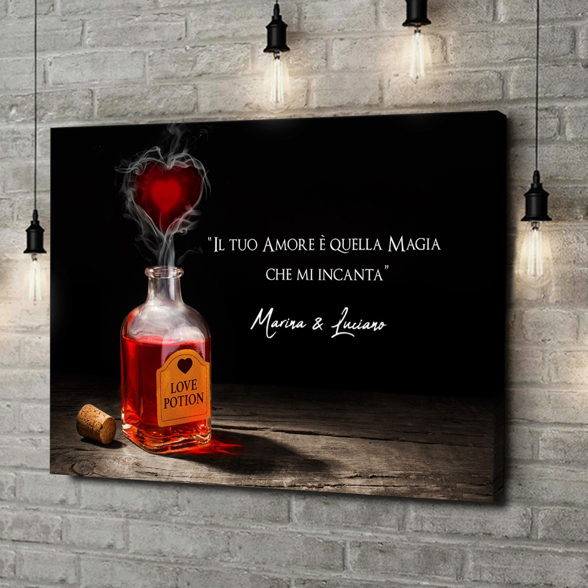 Stampa personalizzata su tela Pozione d'amore