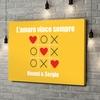 Stampa personalizzata su tela Amore Tic Tac