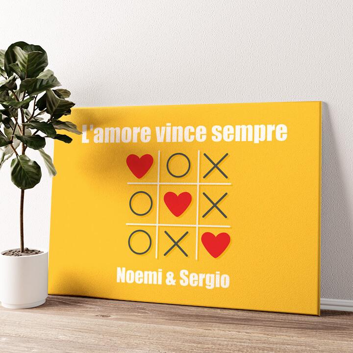 Amore Tic Tac Tela personalizzata