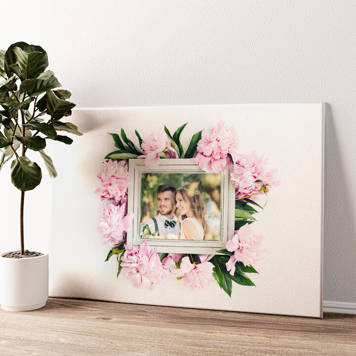 Sfondo: decorazioni floreali Tela personalizzata