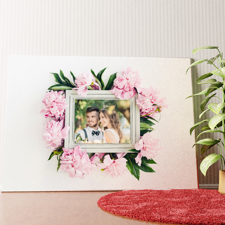 Tela personalizzata Sfondo: decorazioni floreali