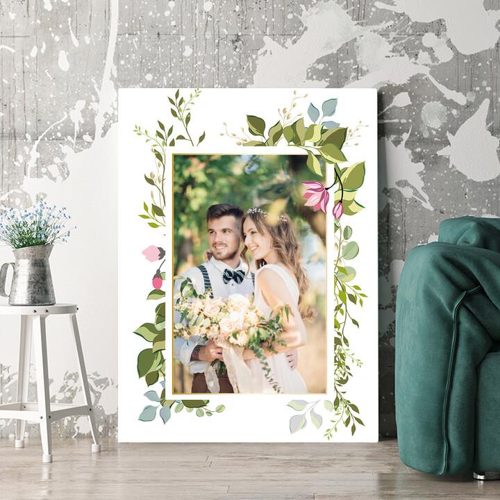 Regalo personalizzato Sfondo: vite di fiori