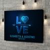 Stampa personalizzata su tela Amore al quadrato
