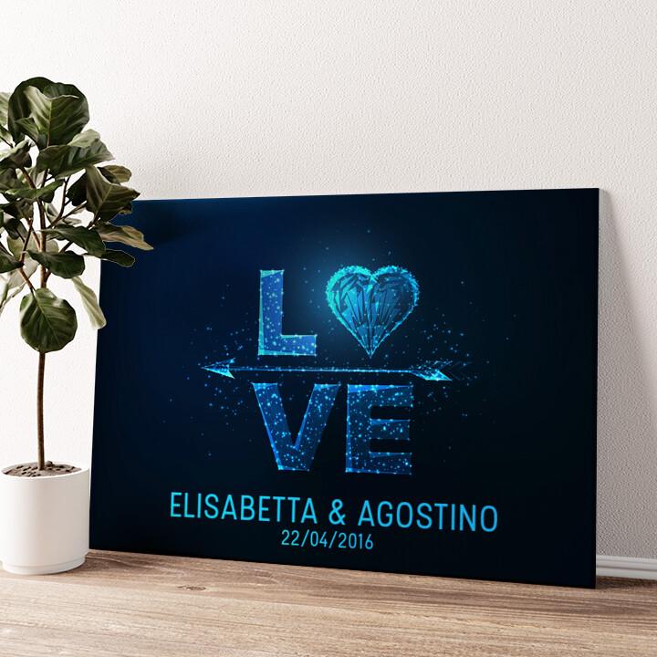 Amore al quadrato Tela personalizzata
