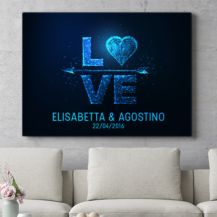 Regalo personalizzato Amore al quadrato