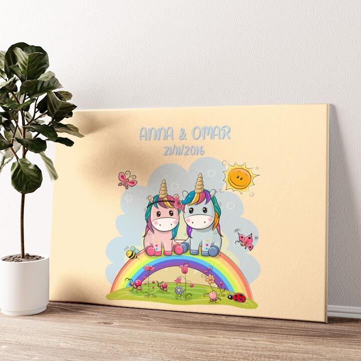 Amore Unicorno Tela personalizzata