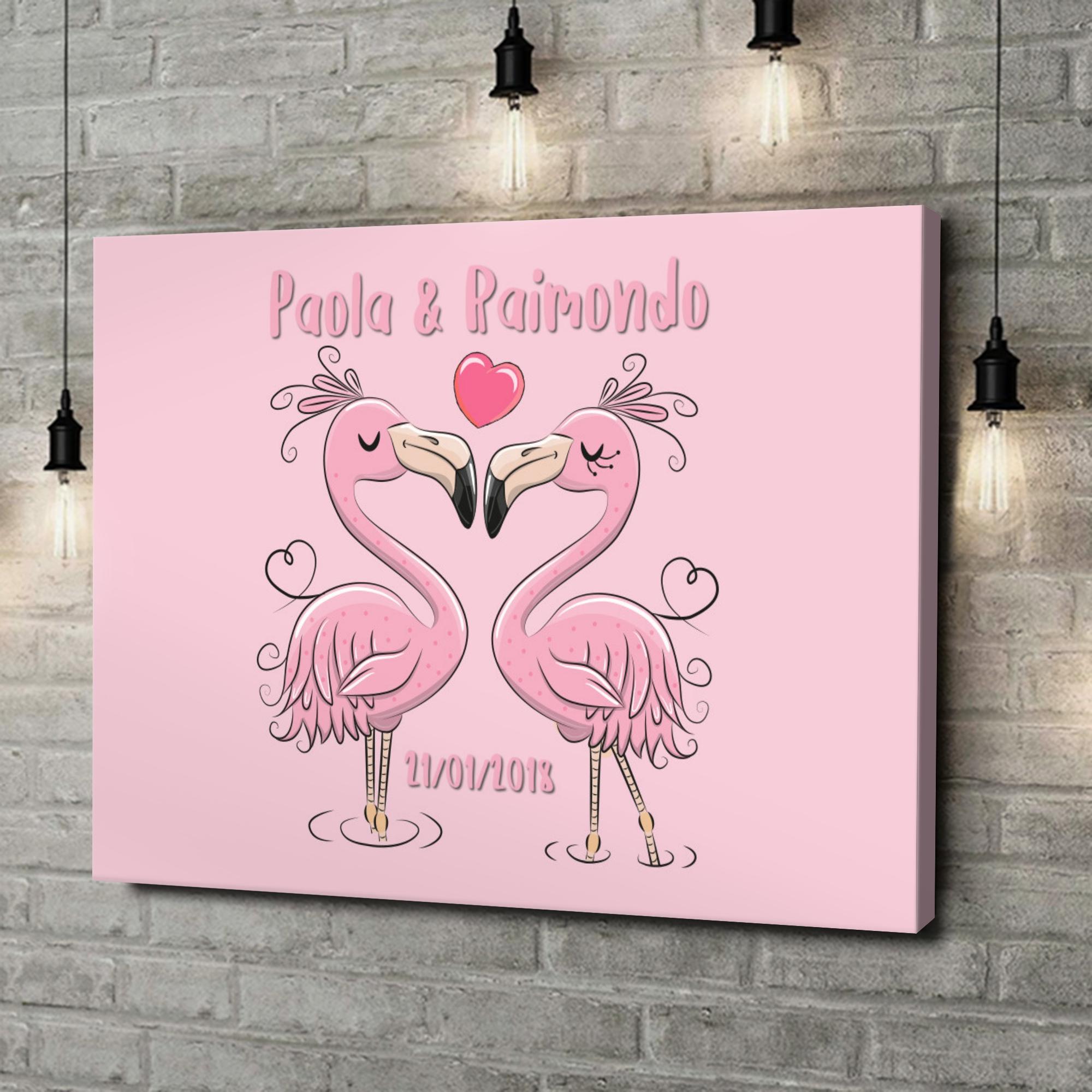 Stampa personalizzata su tela Flamingorama