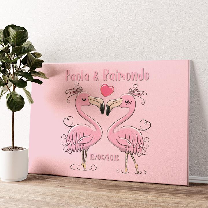 Flamingorama Tela personalizzata