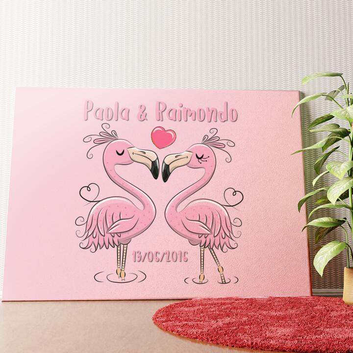 Tela personalizzata Flamingorama