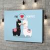 Stampa personalizzata su tela Amore Alpaca