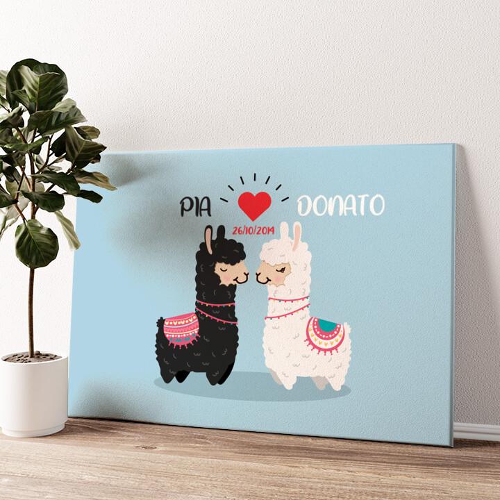 Amore Alpaca Tela personalizzata