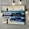 Stampa personalizzata su tela Giornata al lago