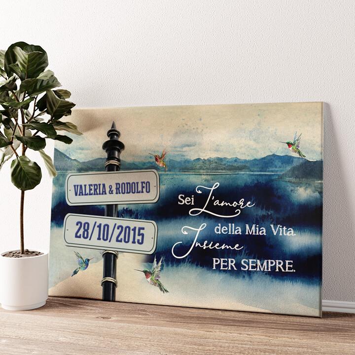 Giornata al lago Tela personalizzata