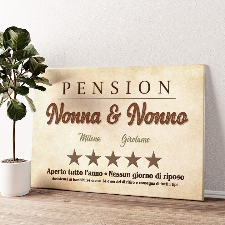 Pensione Nonna & Nonno Tela personalizzata