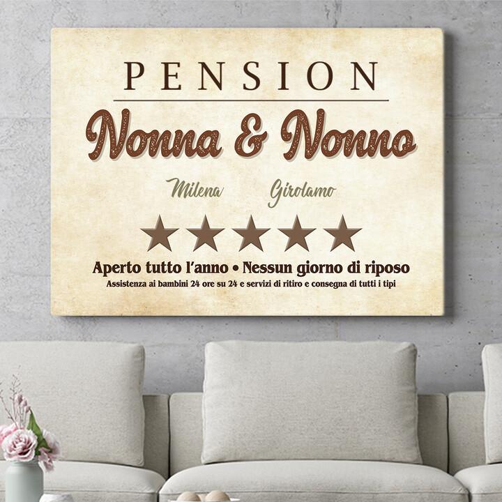 Regalo personalizzato Pensione Nonna & Nonno
