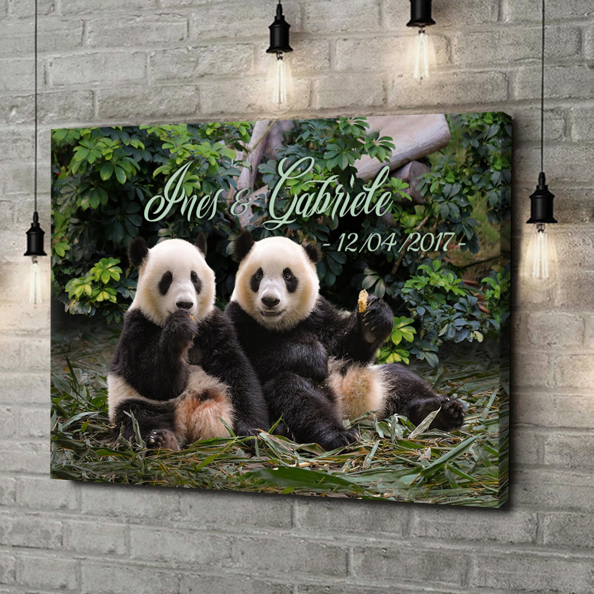 Stampa personalizzata su tela Orsi panda