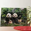 Tela personalizzata Orsi panda