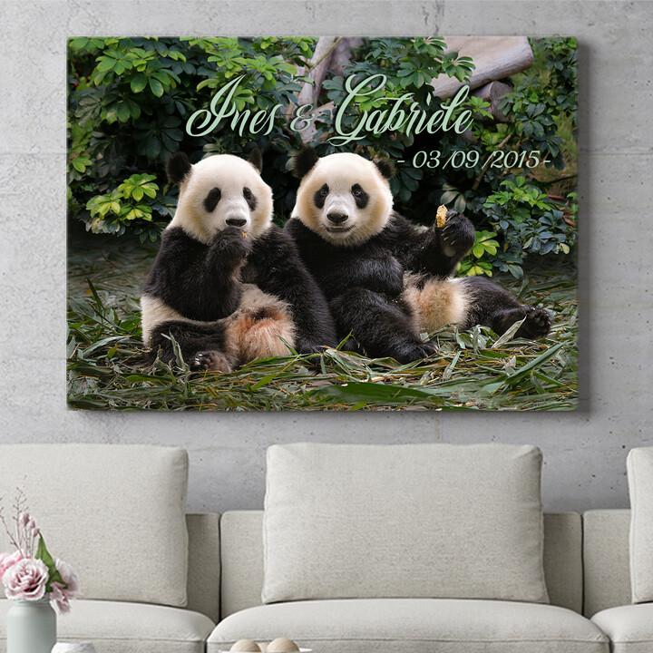 Regalo personalizzato Orsi panda