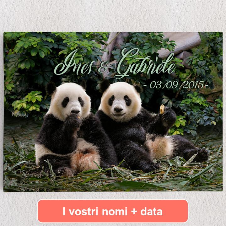 Tele personalizzate Orsi panda