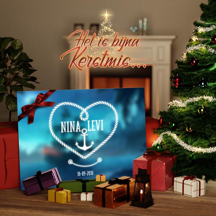 Canvas Cadeau Anker der Liefde