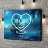 Gepersonaliseerde canvas print Anker der Liefde