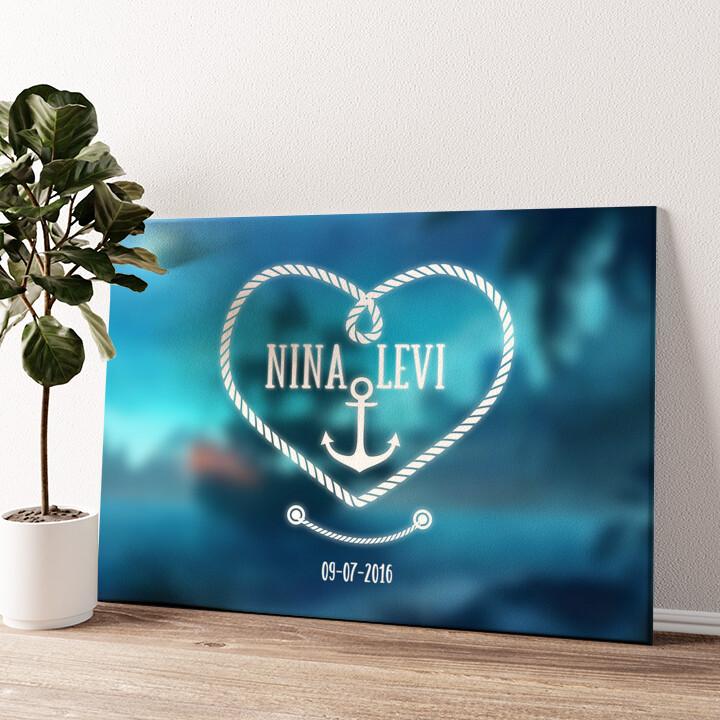 Anker der Liefde Gepersonaliseerde muurschildering