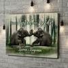 Gepersonaliseerde canvas print Twee harten, één ziel