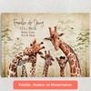 Gepersonaliseerde Canvas Giraffenfamilie