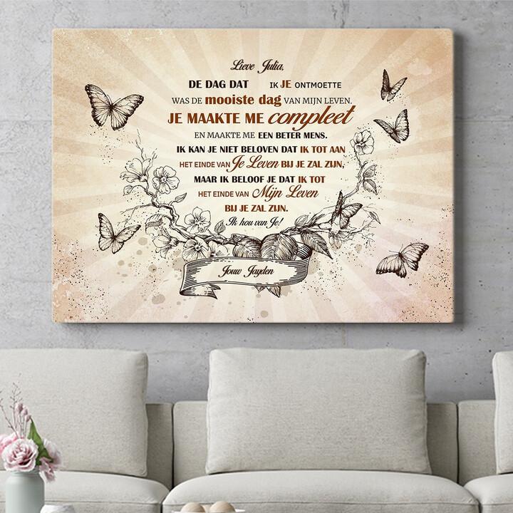 Personaliseerbaar cadeau Vlinderkrans