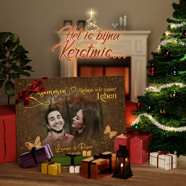 Canvas Cadeau Gelukkige Liefde