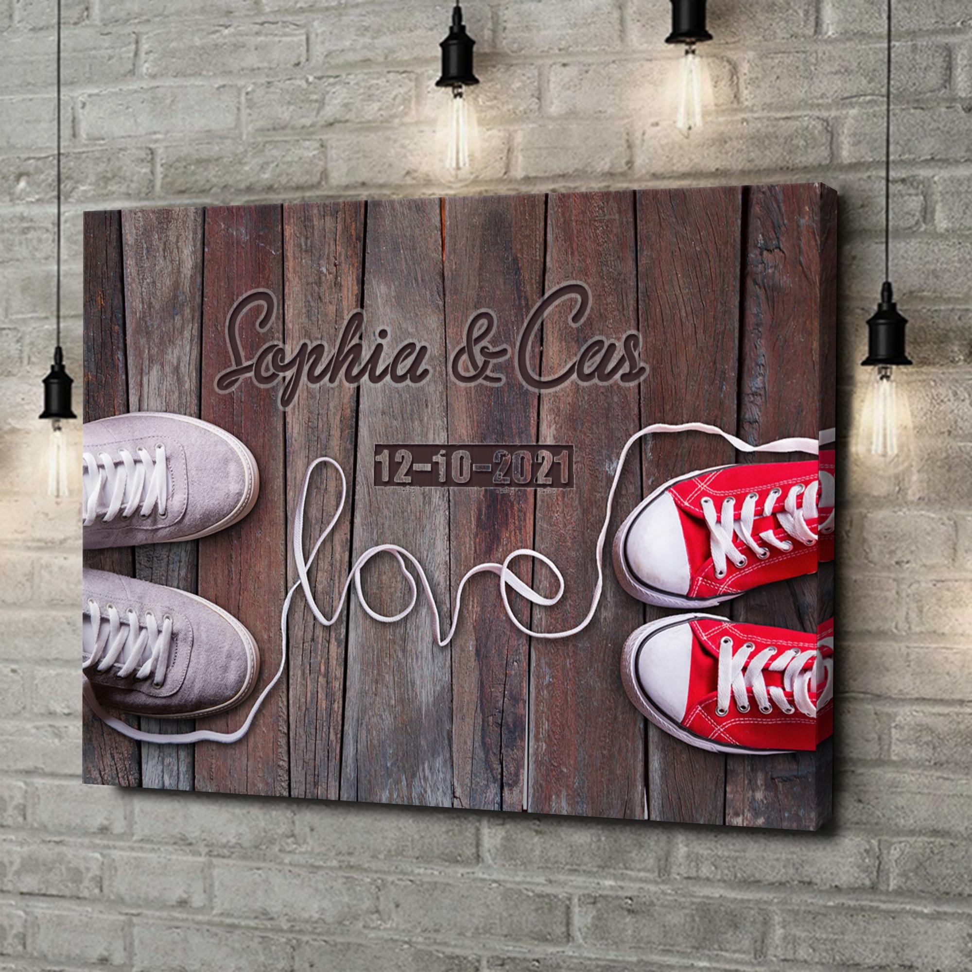Gepersonaliseerde canvas print Sneaker