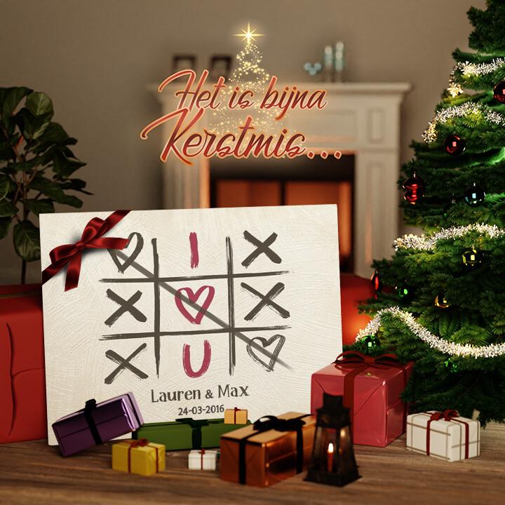 Canvas Cadeau I Love U