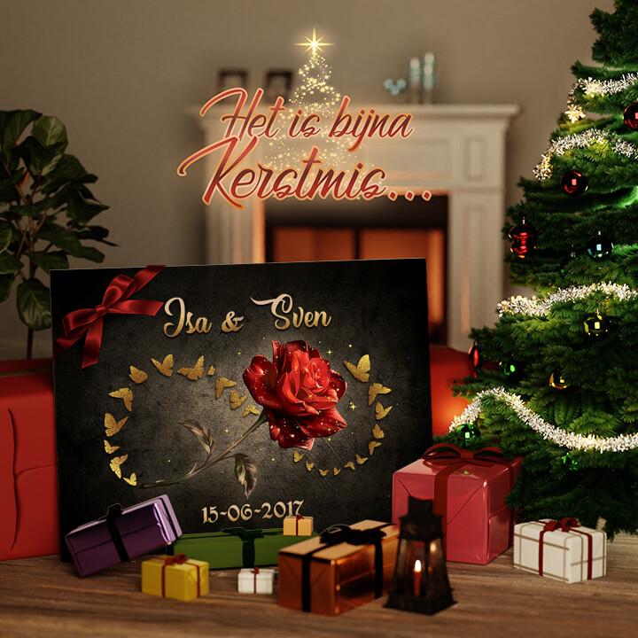 Canvas Cadeau Verliefd Zijn