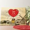 Gepersonaliseerde muurschildering Liefdesvlucht