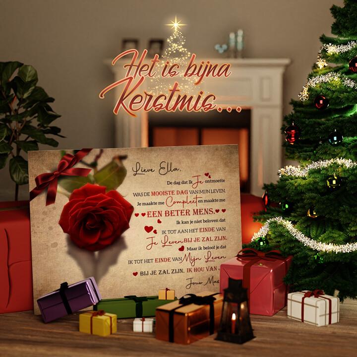 Canvas Cadeau Verliefd op jou