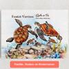 Gepersonaliseerde Canvas Schildpadfamilie
