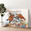 Schildpadfamilie Gepersonaliseerde muurschildering