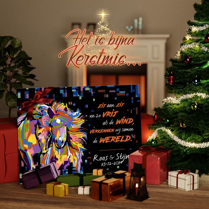 Canvas Cadeau Zij aan zij
